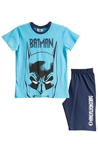 Batman Batman Lisanslı Turkuaz Erkek Çocuk Bermuda Takımı Mavi